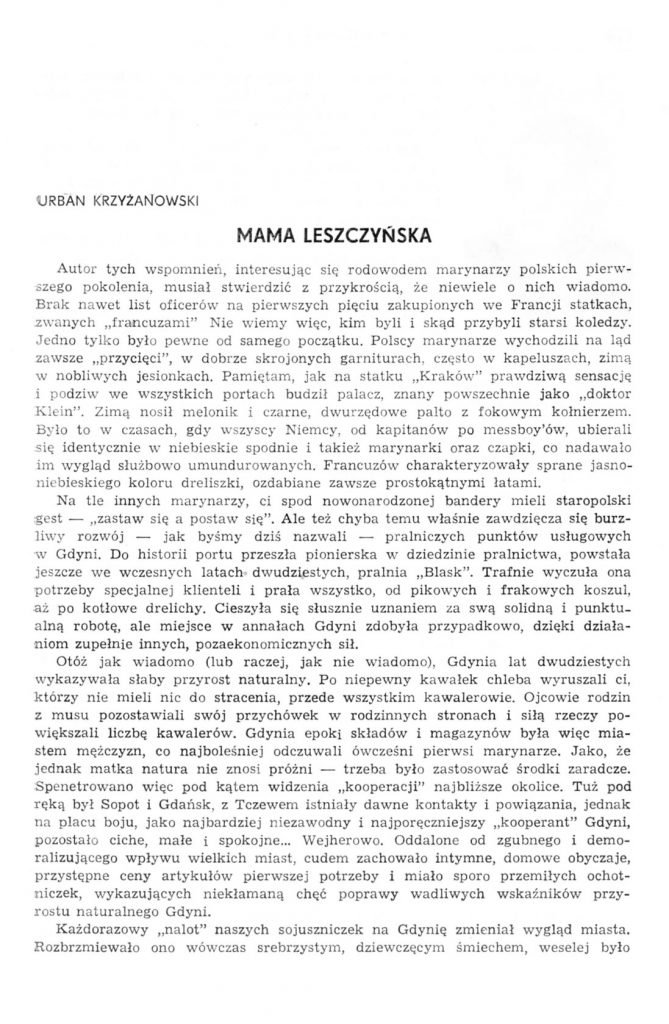 Mama Leszczyńska