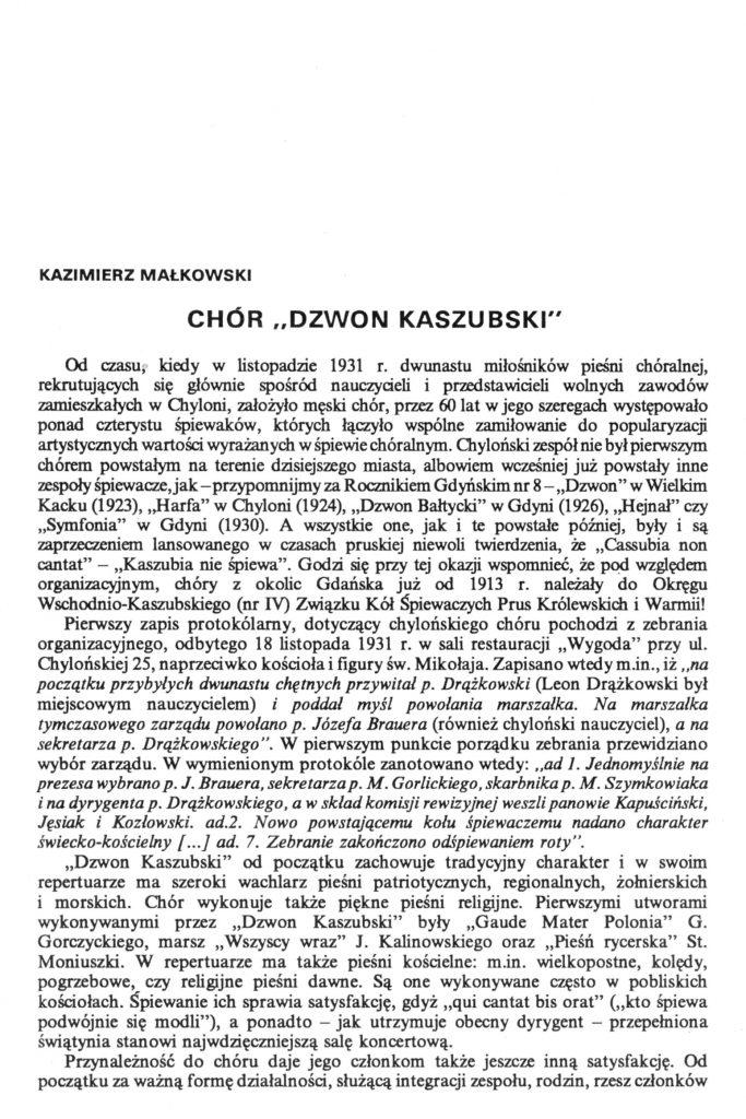 """Chór """"Dzwon Kaszubski"""""""