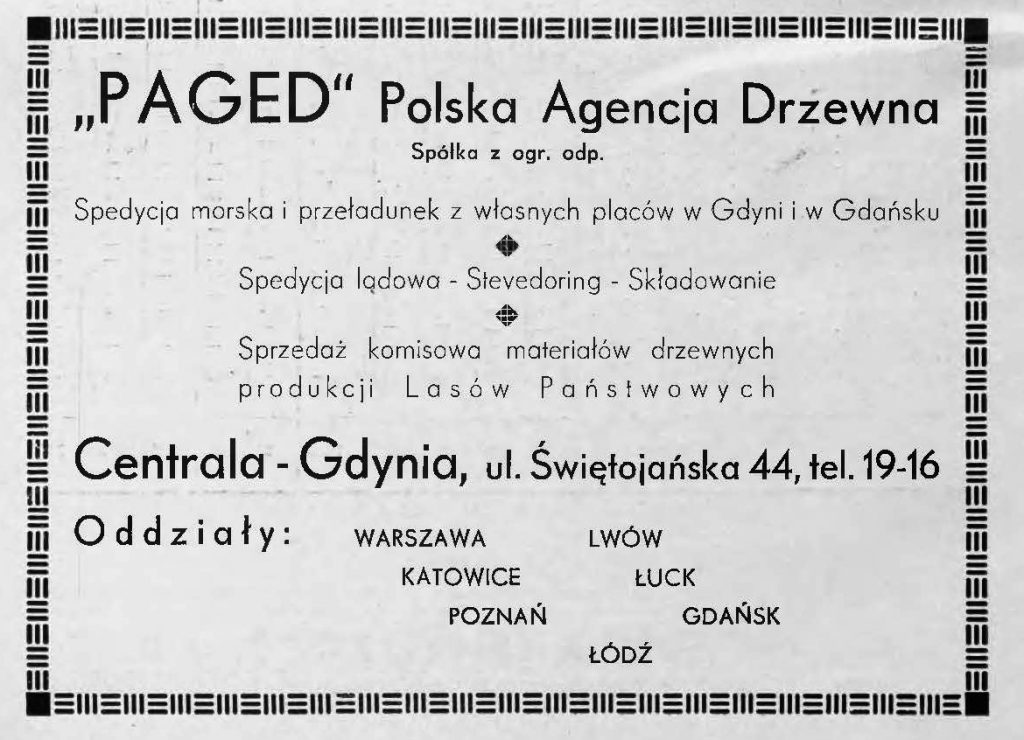 """Paged"" Polska Agencja Drzewna Spółka z ogr. odp."