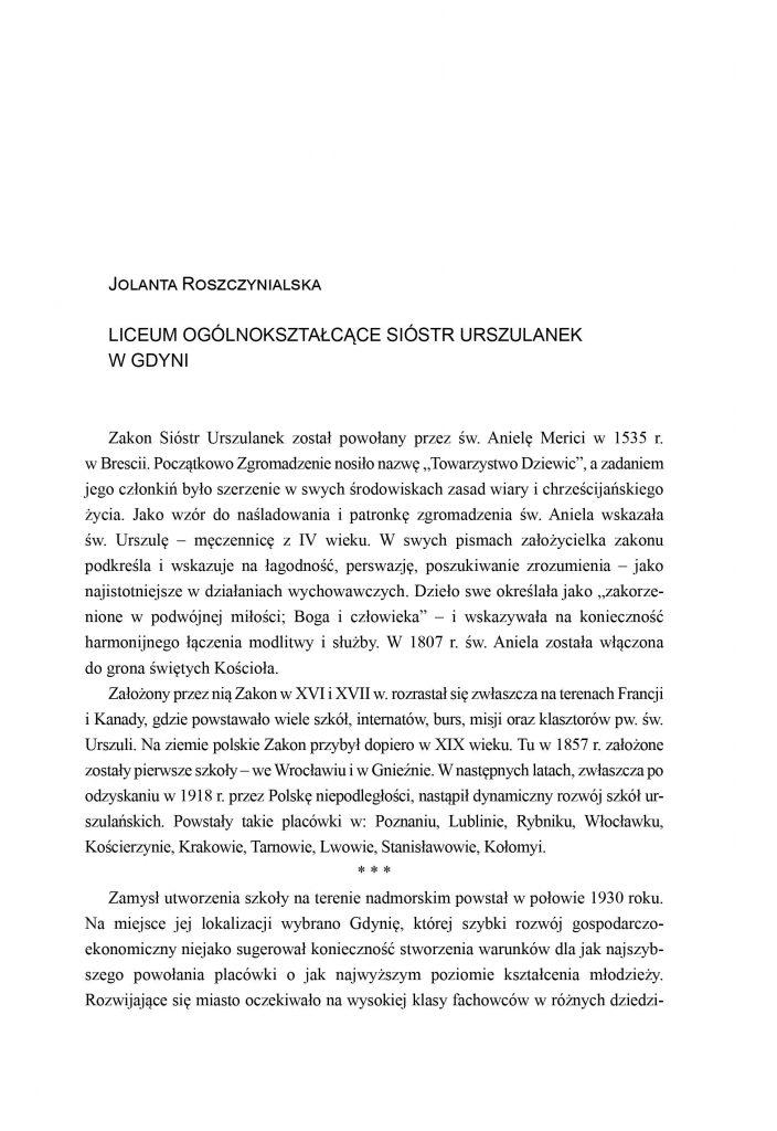 Liceum Ogólnokształcące Sióstr Urszulanek w Gdyni