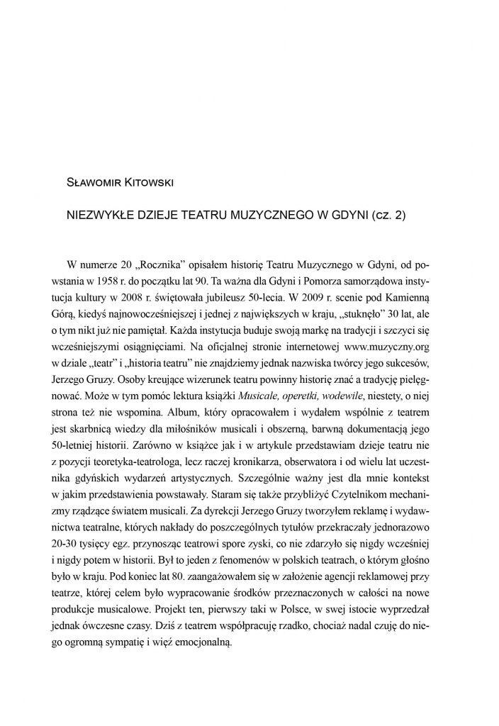 Niezwykłe dzieje Teatru Muzycznego w Gdyni (cz. 2)