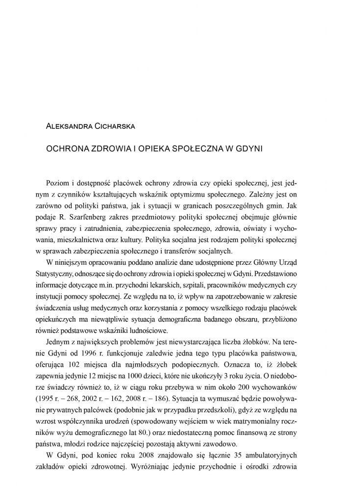 Ochrona zdrowia i opieka społeczna w Gdyni
