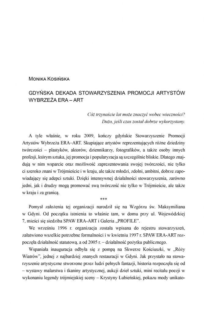 Gdyńska dekada Stowarzyszenia Promocji Artystów Wybrzeża ERA - ART