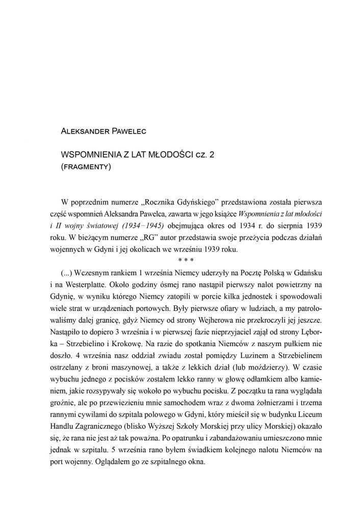 Wspomnienia z lat młodości (cz.2)