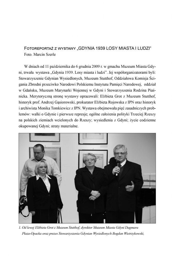 """Fotoreportaż z wystawy """"Gdynia 1939. Losy miasta i ludzi"""""""