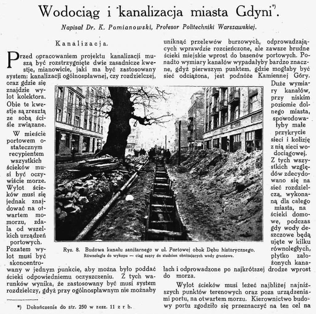 Wodociąg i kanalizacja miasta Gdyni