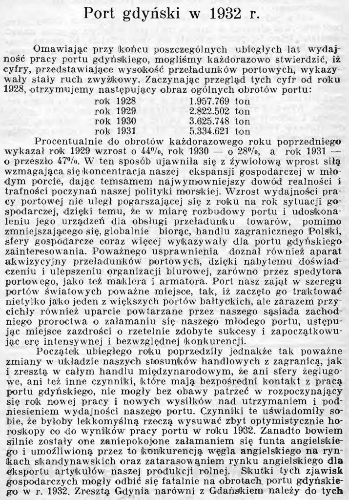 Port gdyński w 1932 r.