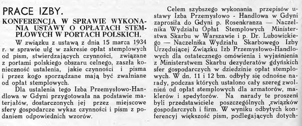 Konferencja w sprawie wykonana ustawy o opłatach stemplowych w portach polskich
