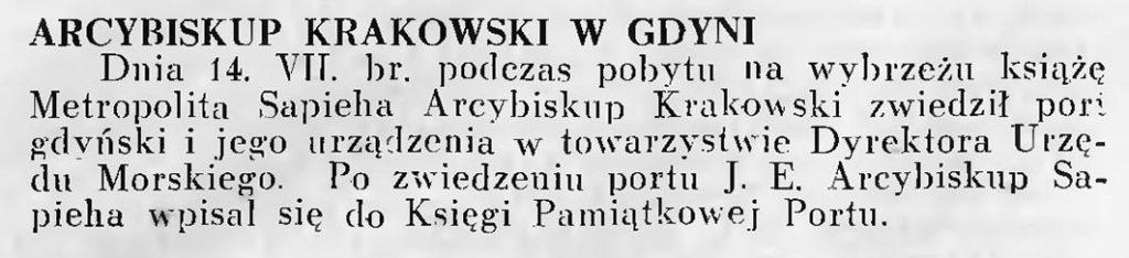 Arcybiskup Krakowski w Gdyni