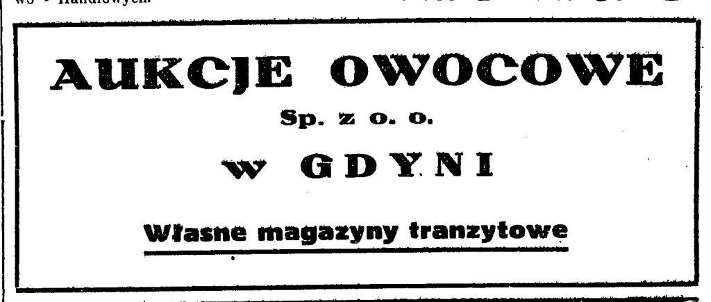 Aukcje owocowe w Gdyni Sp. z o. o. Własne magazyny tranzytowe