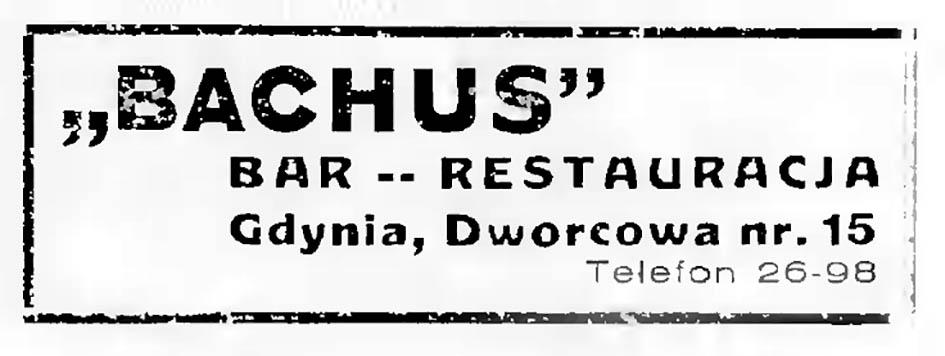 BACHUS bar - restauracja