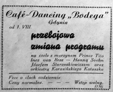 "Cafe - Dancing ""Bodega"""
