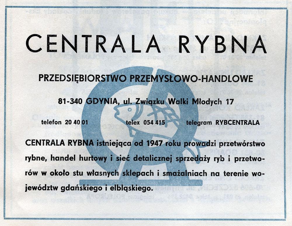 CENTRALA RYBNA Przedsiębiorstwo Przemysłowo-Handlowe
