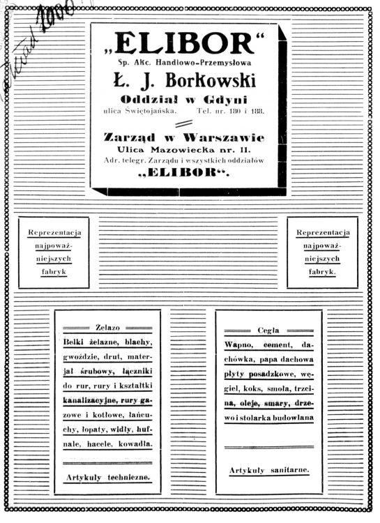ELIBOR Sp. Akc. Handlowo-Przemysłowa Ł. J. Borkowksi ulica Świętojańska