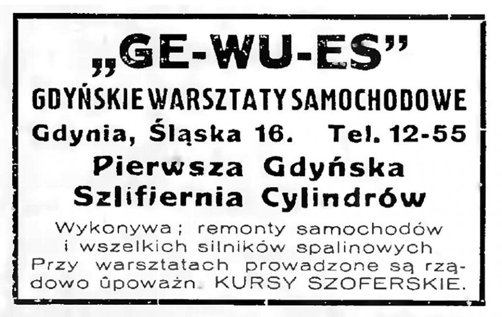GE-WU-ES Gdyńskie warsztaty samochodowe