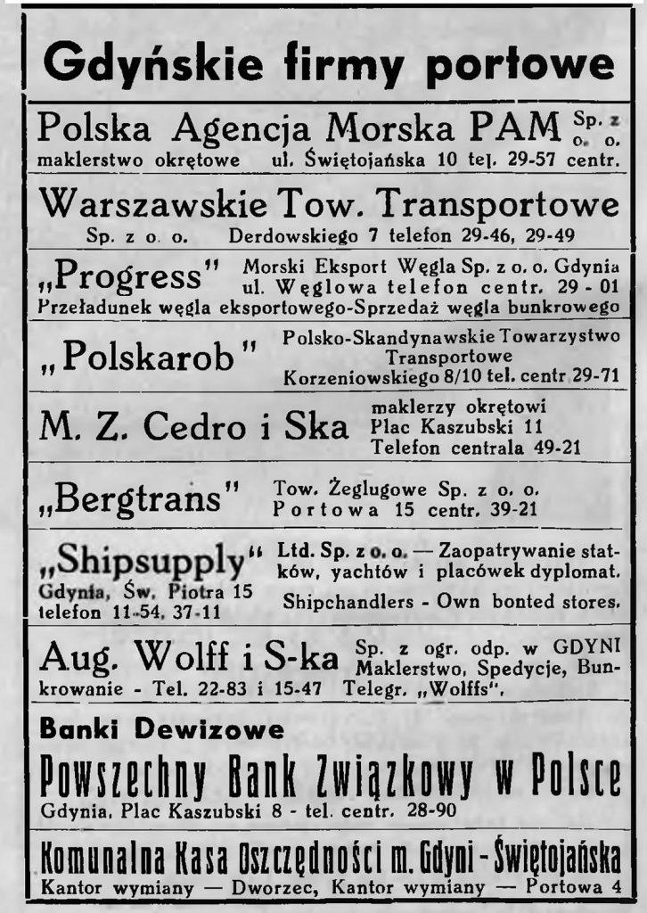 Gdyńskie firmy portowe