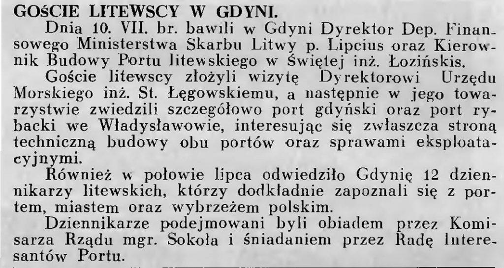 Goście litewscy w Gdyni