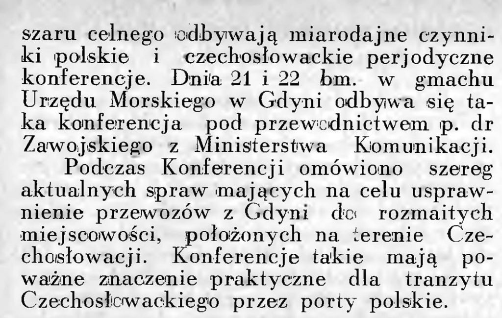 Konferencja w sprawie usprawnienia przewozów między Czechosłowacją a portami polskiego obszaru celnego 2