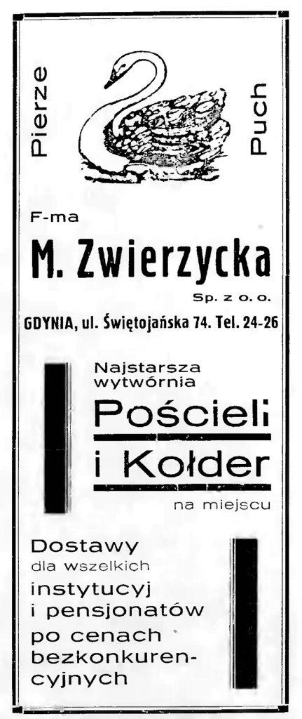M. Zwierzycka Najstarsza wytwórnia Pościeli i Kołder