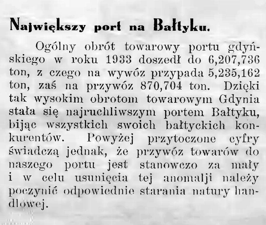 Największy port na Bałtyku