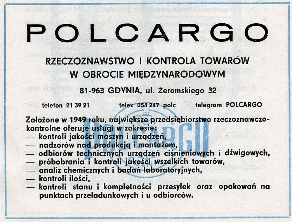 POLCARGO - Rzeczoznawstwo i Kontrola Towarów w Obrocie Międzynarodowym