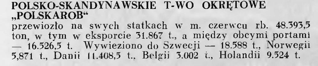 Polsko Skandynawskie Towarzystwo Okrętowe POLSKAROB