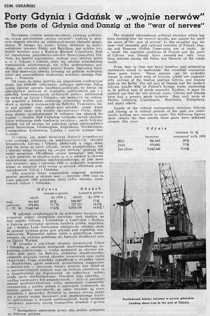 Porty Gdynia i Gdańsk w wojnie nerwów 1