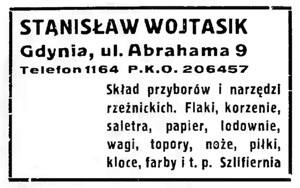 STANISŁAW WOJTASIK, Gdynia, ul. Abrachama 9