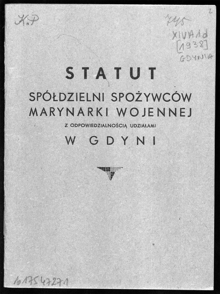 Statut Spółdzielni Spożywców Marynarki Wojennej z odpowiedzialnością udziałami w Gdyni