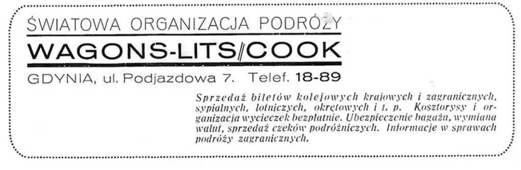 WAGONS-LITS // COOK ŚWIATOWA ORGANIZACJA PODRÓŻY  Gdynia, ul. Podjazdowa 7