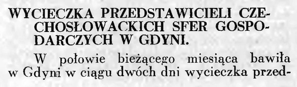 Wycieczka przedstawicieli czechosłowackich sfer gospodarczych w Gdyni 1