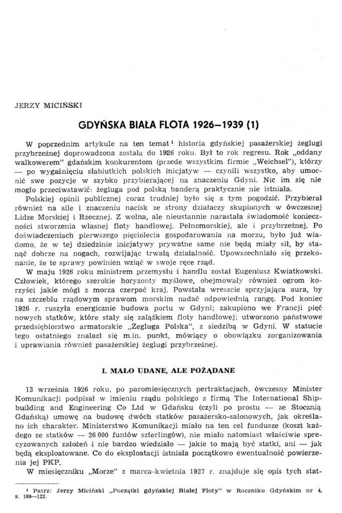 Gdyńska biała flota 1926-1939 (1)