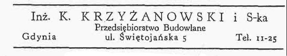 Inż. K. Krzyżanowski Przedsiębiorstwo Budowlane