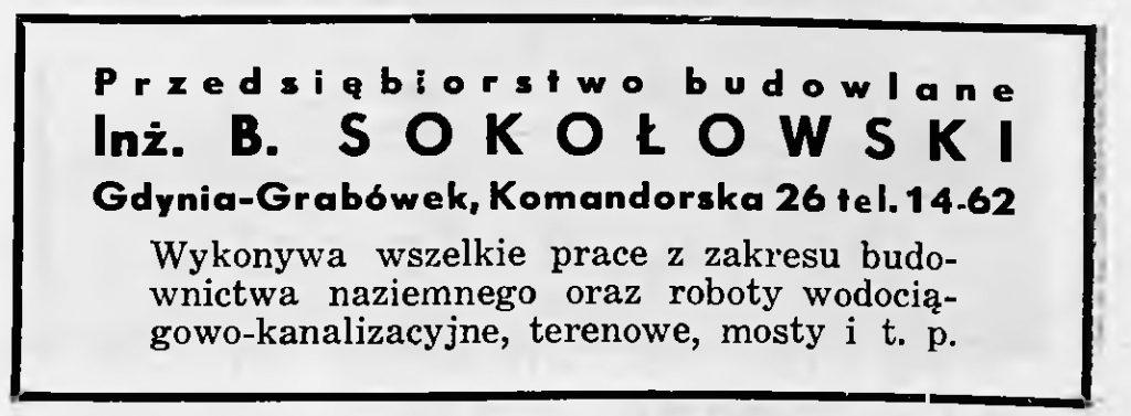 Przedsiębiorstwo Budowlane B. SOKOŁOWSKI