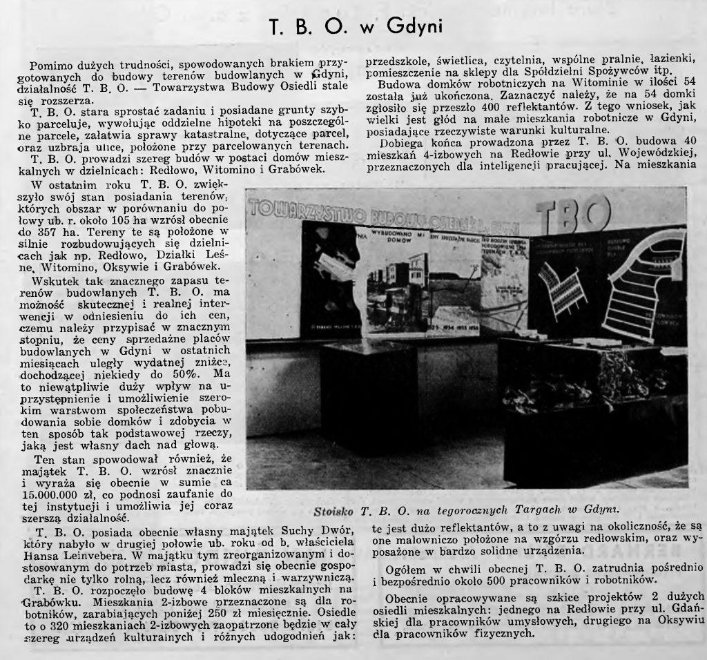 Towarzystwo Budowy Osiedli w Gdyni