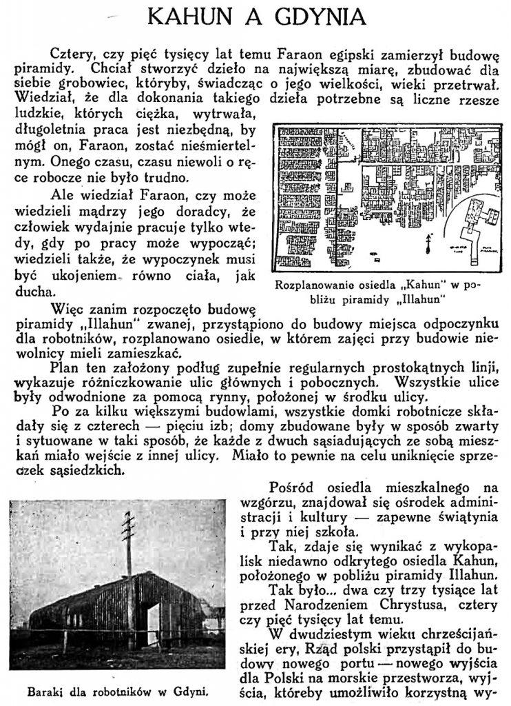 Kahun a Gdynia