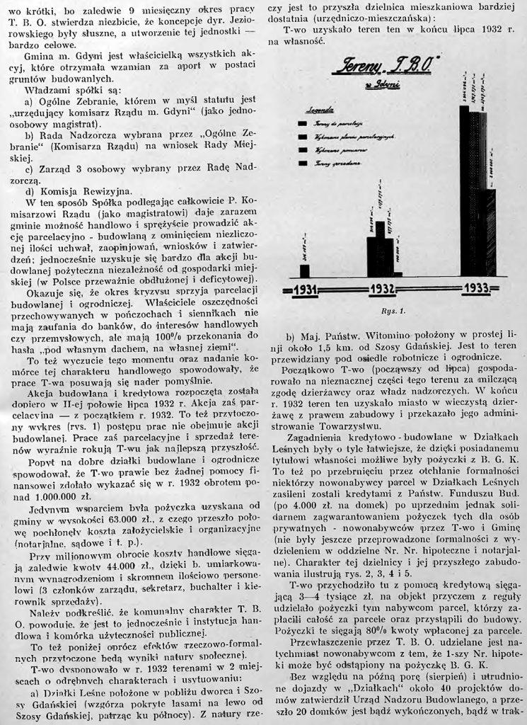 Działalność Tow. Budowy Osiedli, S. A. w Gdyni