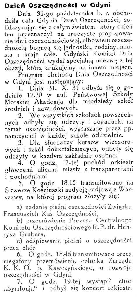 Dzień Oszczędności w Gdyni