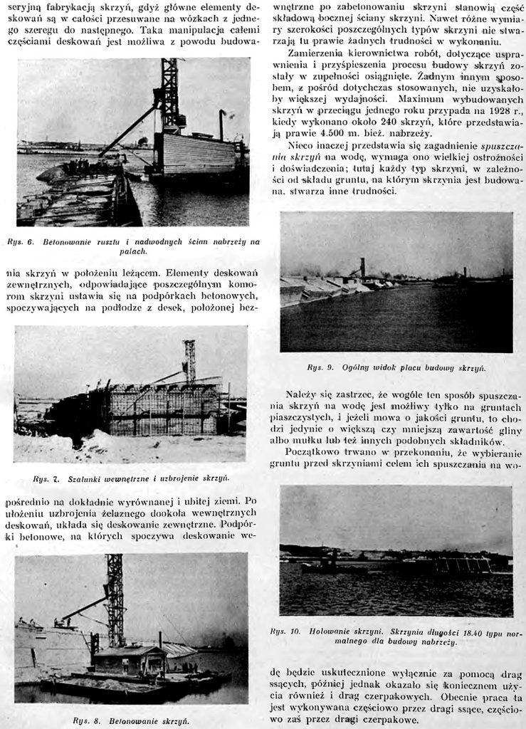 Fragmenty z organizacji robót przy budowie portu