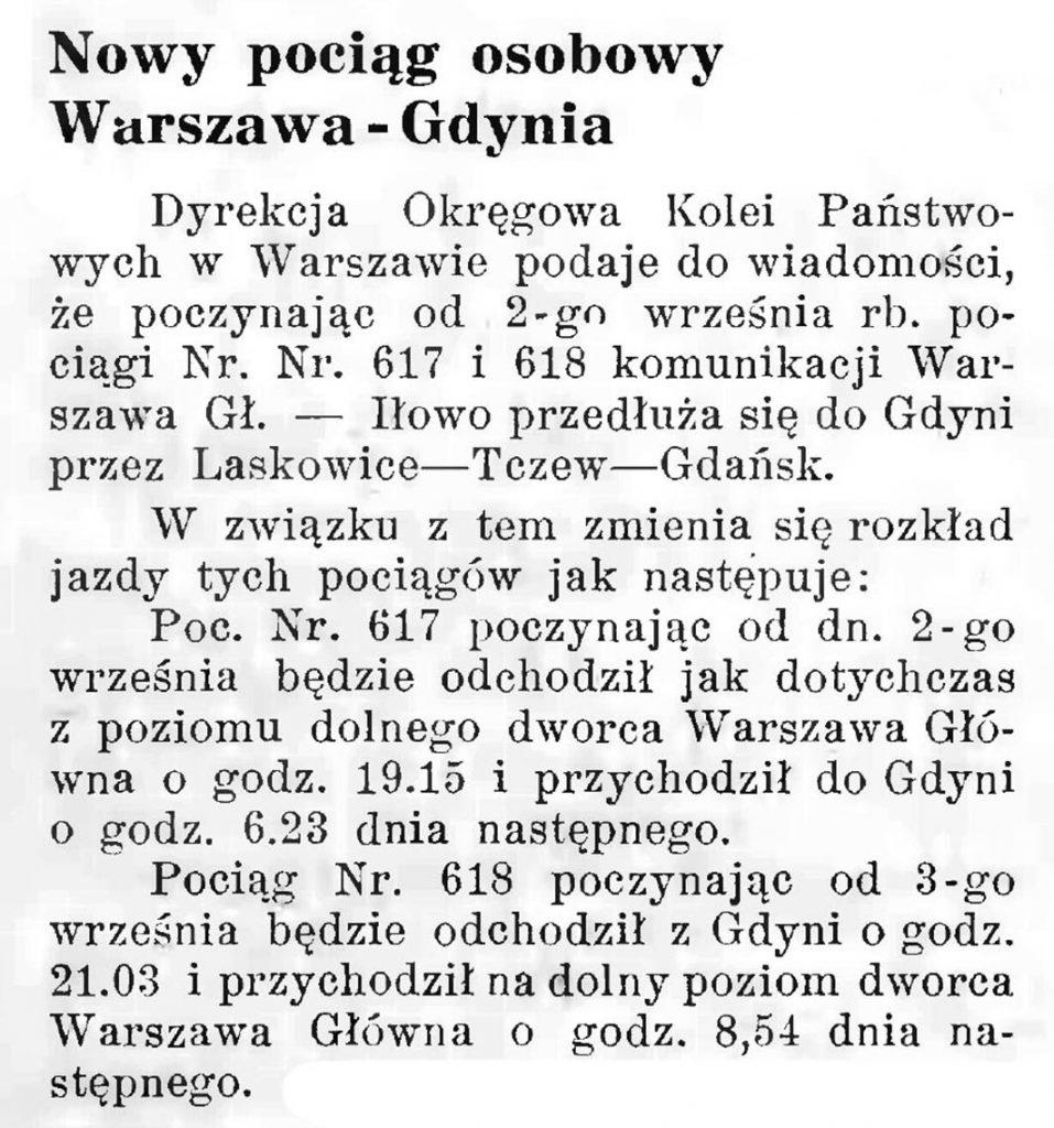 Nowy pociąg osobowy Warszawa Gdynia