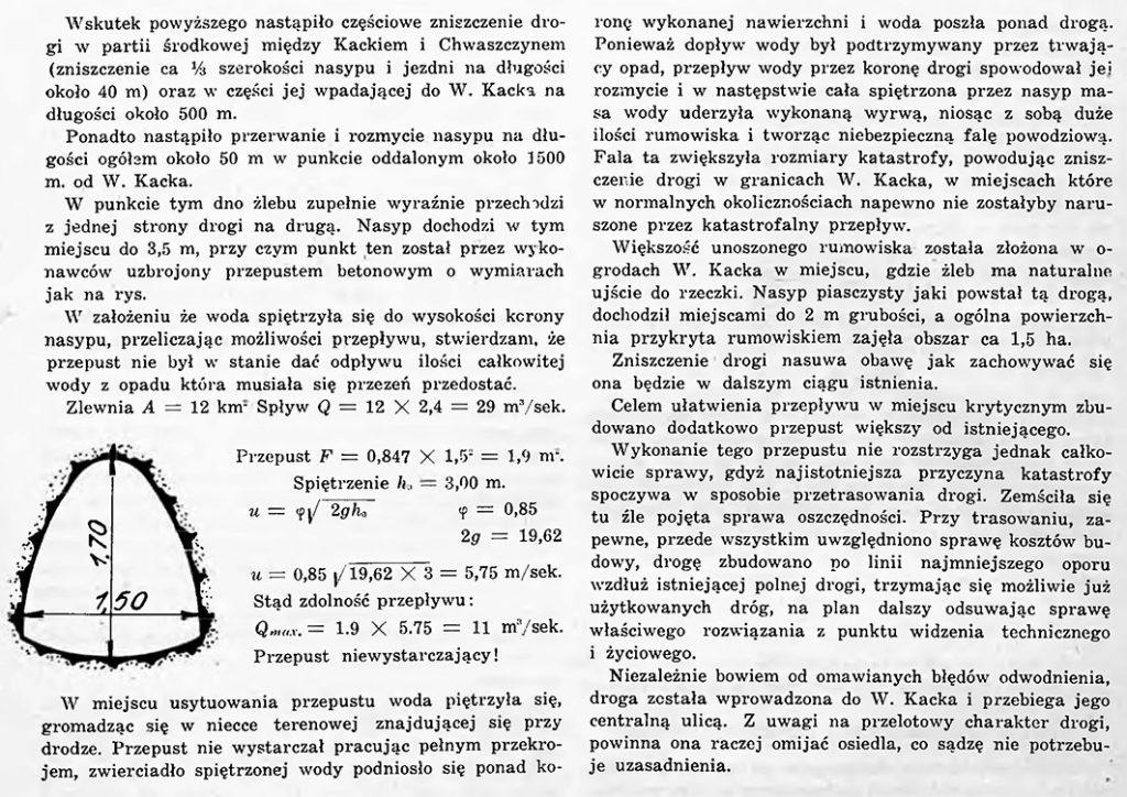 O skutkach katastrofalnego opasu pod Gdynią w dniach 16 i 17 maja 1937 r.