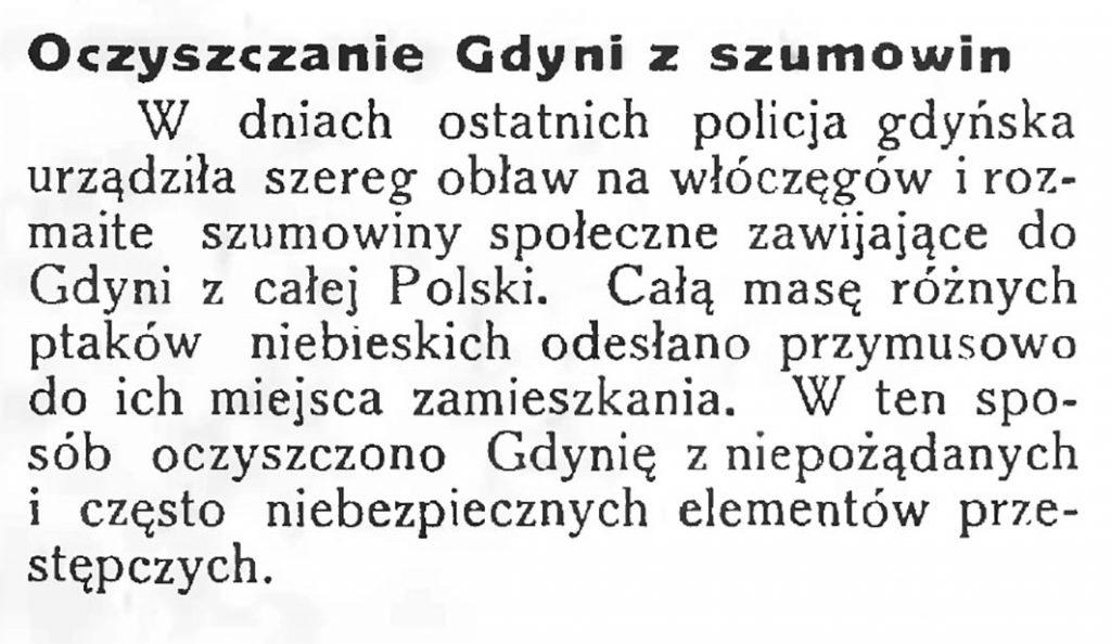 Oczyszczanie Gdyni z szumowin