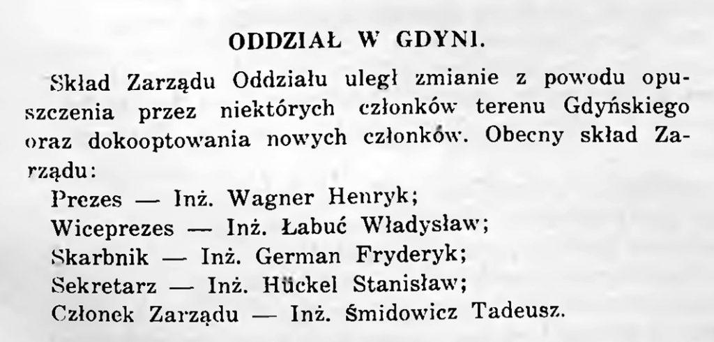 Oddział w Gdyni [Polskiego Zwaiązku Inżynierów Budowlanych]