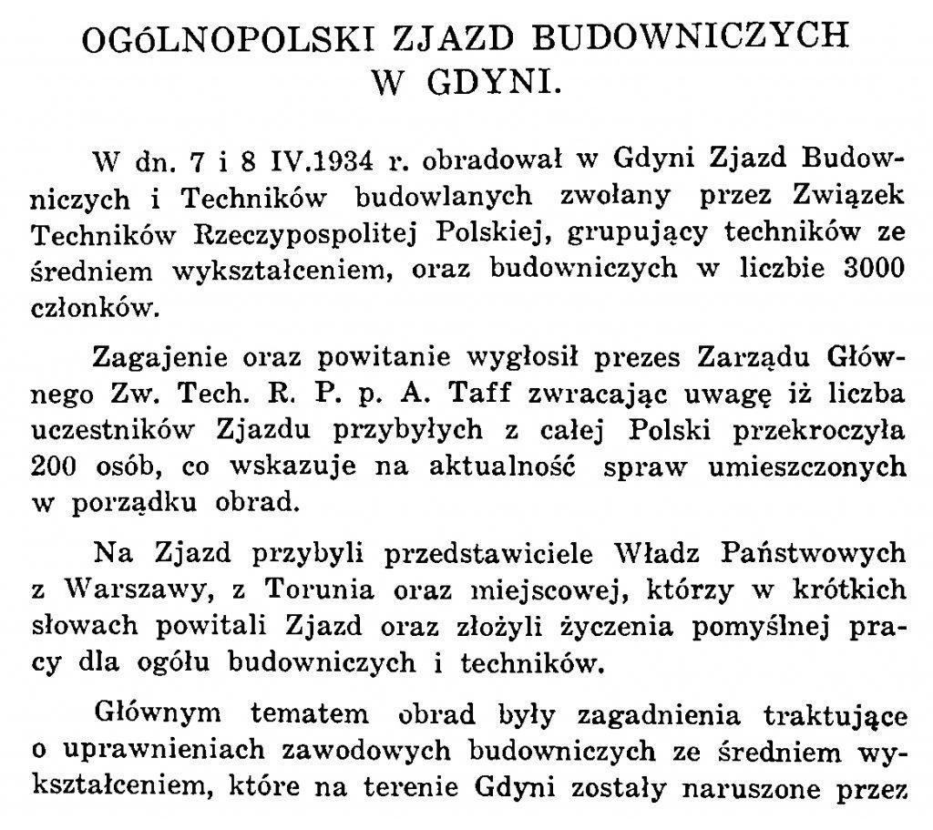 Ogólnopolski Zjazd Budowniczych w Gdyni