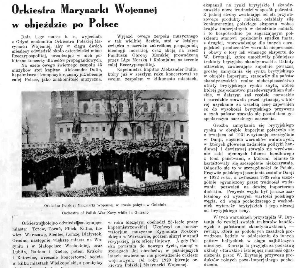 Orkiestra Marynarki Wojennej po objeździe w Polsce