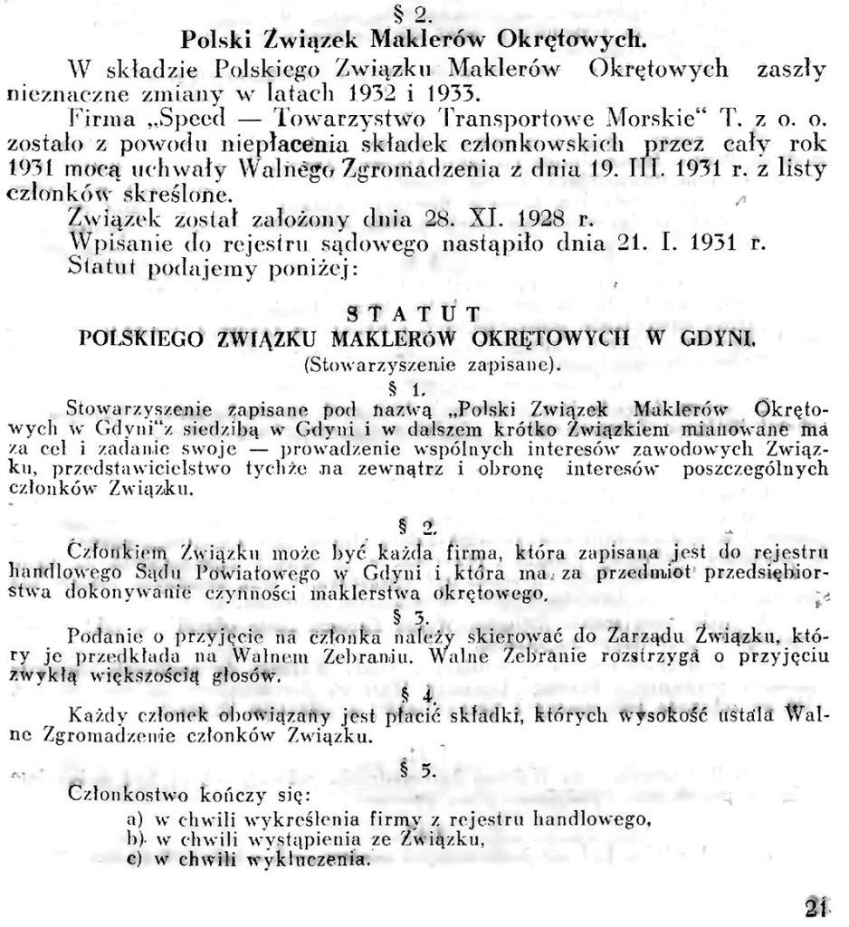 Polski Związek Maklerów Okrętowych