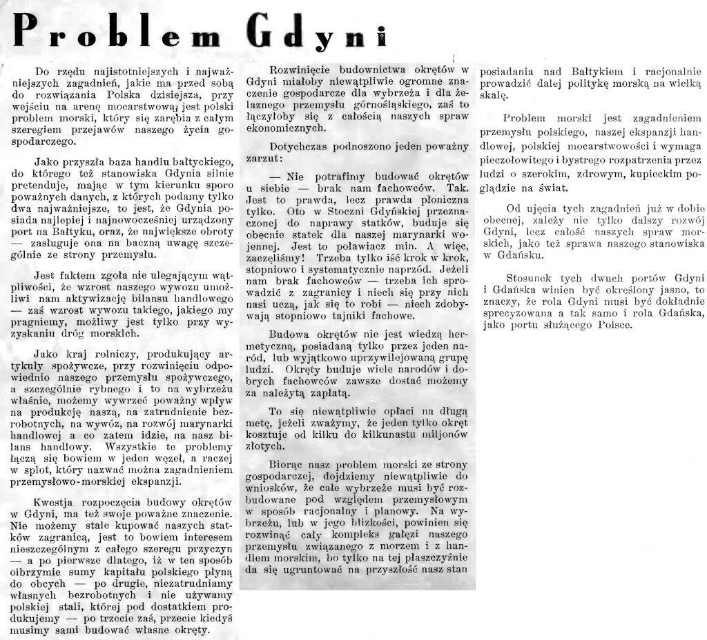 Problem Gdyni