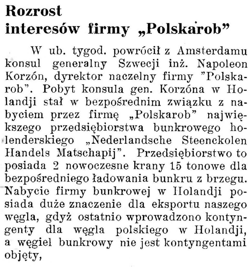 Rozrost interesów firmy Polskarob