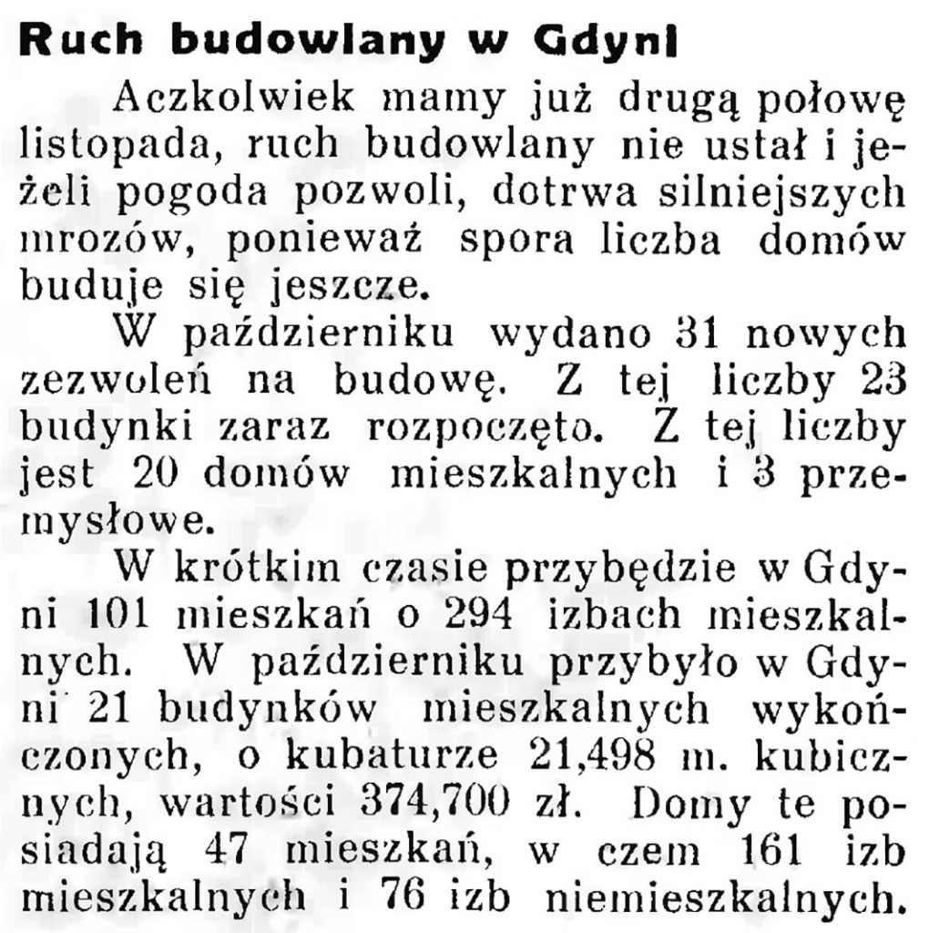 Ruch budowlany w Gdyni