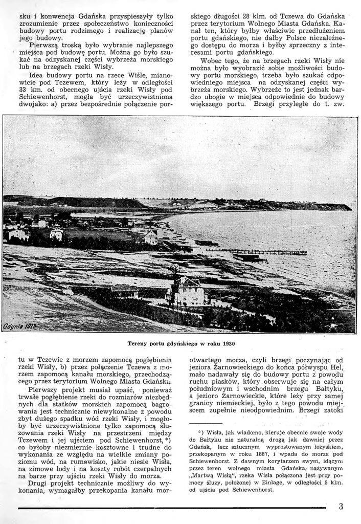Rzut oka na warunki powstania portu w Gdyni 2